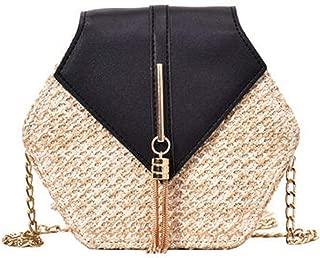 Multi Style Straw+leather Handbag Women Summer Rattan Bag Handmade Woven Beach Circle Bohemia Shoulder Bag New Fashion