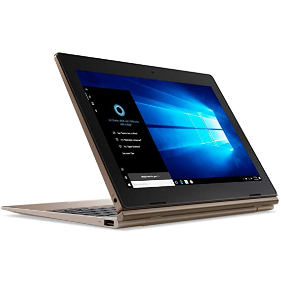 Lenovo Ideapad D330 81H3004RIN 10.1-inch Detachable Laptop (2-in-1) (N4000/4GB/32 GB SSD/Windows 10 Home/Integrated Graphics), Bronze