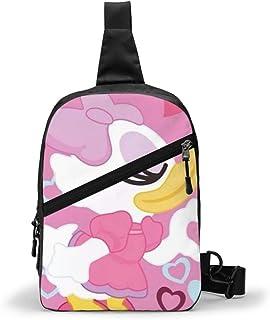 DJNGN Borsa a Tracolla, Borsa da Giorno a Tracolla con Tracolla a Tracolla Daisy Duck per Viaggio Escursionismo Uomo Donna