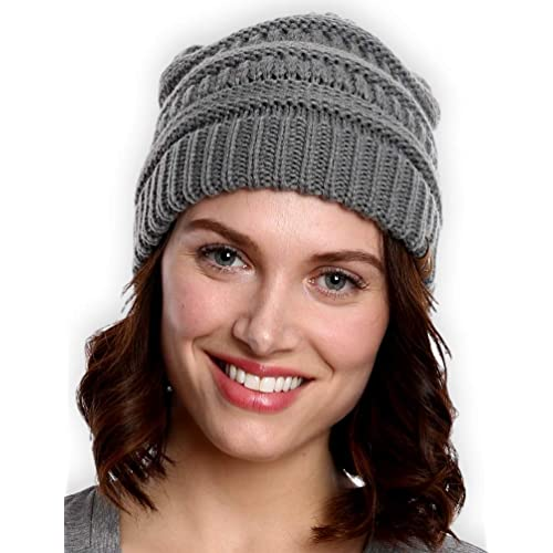 38ef54496b6 Tough Headwear Cable Knit Beanie - Thick