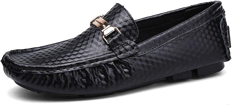 Män Loafers Loafers Loafers Mockasines Lyxy Brand Slip på herr Drive skor Genuine läder Casual skor män, svart,8  rimligt pris