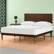 Zinus Deluxe Mid-Century Wood Platform Bed with Adjustable height Headboard, no Box Spring needed, King