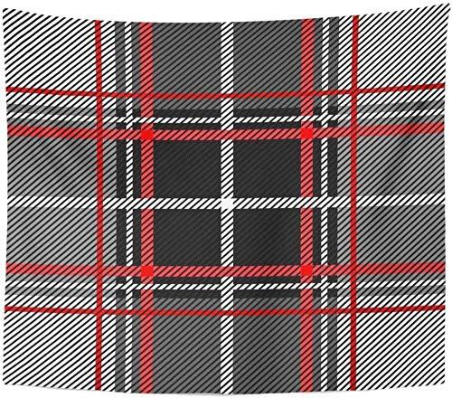 votgl Gabel Plaid Checker Muster Retro Kollektion Grau Schwarz Rot Tapisserie Wohnkultur Wandmontage Wohnzimmer Schlafzimmer Schlafsaal 150cmX200cm