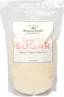 Relative Foods USDA organic cane sugar, 5 pounds, packaged in our gluten free, allergen free facility. Heavy duty stand up...