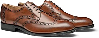 MORAL CODE The Holden: Hand Crafted Men's Leather Wingtip Brogue Dress Shoes