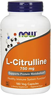 NOW Supplements, L-Citrulline 750 mg, 180 Veg Capsules