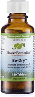 Native Remedies Be-Dry Tablets - Natural Homeopathic Formula Reduces Bedwetting and Nervousness in Children - Promotes Bladder Health - 180 Tablets