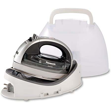 Panasonic NI-WL600 Cordless, Portable 1500W Contoured Multi-Directional Steam/Dry Iron, Stainless Steel Soleplate, Power Base and Carrying/Storage Case, Silver