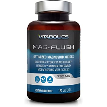 Mag Flush 750 mg 120 Vcaps - Natural Magnesium Oxide   Gentle Laxative   Healthy Digestive Tract   Regularity Formula   Oxygen Based Colon Cleanse