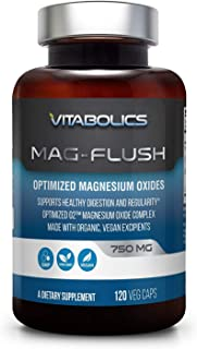 Mag Flush 750 mg 120 Caps - Natural Magnesium Oxide | Gentle Laxative | Healthy Digestive Tract | Regularity Formula | Oxygen Based Colon Cleanse