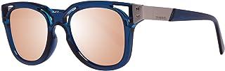 نظارات شمسية للبالغين من الجنسين DL0232 90Z مقاس 49 من ديزل، ازرق (ازرق/ بنفسجي متدرج)
