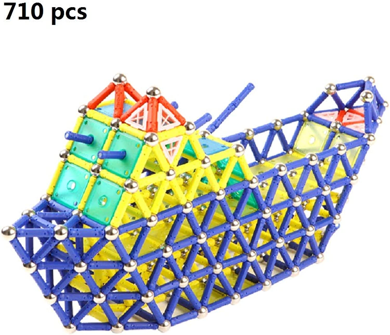 tienda en linea Bloques Bloques Bloques de construcción magnéticos juguete Set plástico magnético varilla 710pcs Niños mini DIY rompecabezas rompecabezas construcción azulejos apilamiento imán creativo adultos Building Blocks  costo real