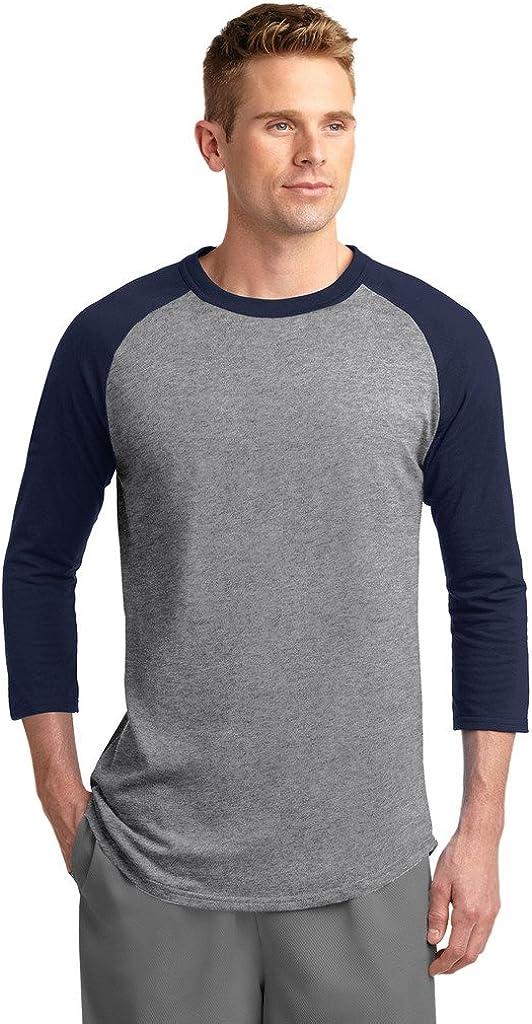 Sport-Tek Big Mens 3//4 Sleeve Colorblock Raglan Jersey