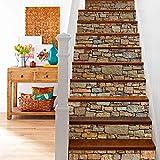 Bestine 6PCS 3D Treppenaufkleber, Umweltfreundliche Selbstklebende PVC-Treppenaufkleber Abnehmbare wasserdichte Treppenaufkleber für Hauptschlafzimmer Wohnzimmer Dekor (A) - 7