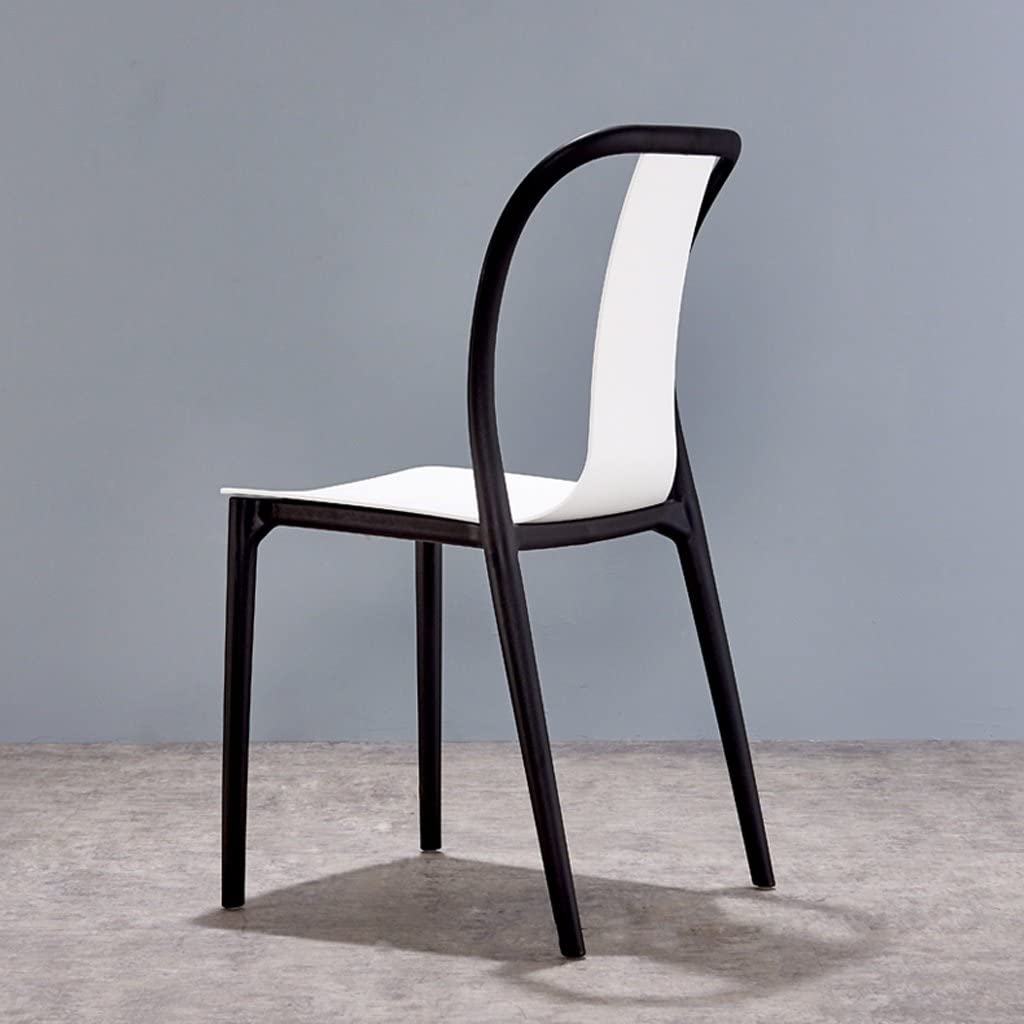 SLL- Moderne Simple décontracté à Manger Chaise à la Maison Chaise en Plastique Moderne (Color : B) E