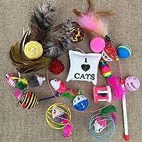 面白い猫面白い猫スティック羽playsetsシミュレーションベルボールマウスケージのラットの猫の子猫用品