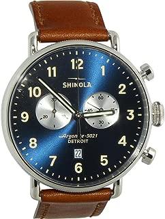 Shinola Detroit Men's The Canfield 43mm - 20001940 Midnight Blue/Dark Cognac
