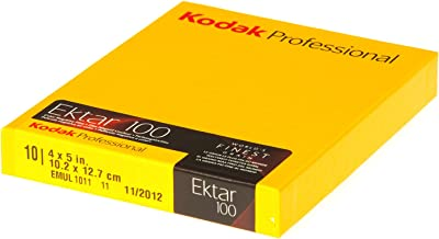 Kodak 158 7484 Professional Ektar Color Negative Film ISO 100, 4 x 5 Inches, 10 Sheets (Yellow)