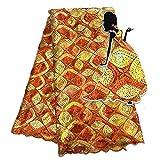 NO LOGO African Fabric Französisch Mesh-Spitze-Gewebe mit