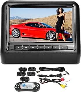 "Qii lu Car DVD Player, 9""Reposacabezas universal 1 Din Car Monitor digital Video DVD Player USB 12V"