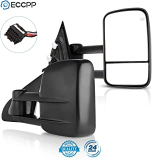 Best ECCPP Towing Mirrors Replacement fit for 2014-2018 for Chevy GMC Silverado Sierra 1500 2015-16 2500 HD 3500 HD Power Heated Mirrors Review