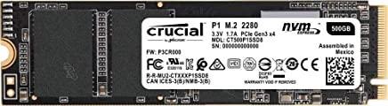 Crucial SSD M.2 500GB P1シリーズ Type2280 PCIe3.0x4 NVMe 5年保証 CT500P1SSD8