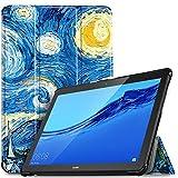 IVSO Funda Carcasa para Huawei MediaPad T5 10, Slim PU Protectora Carcasa Cover para Huawei MediaPad...