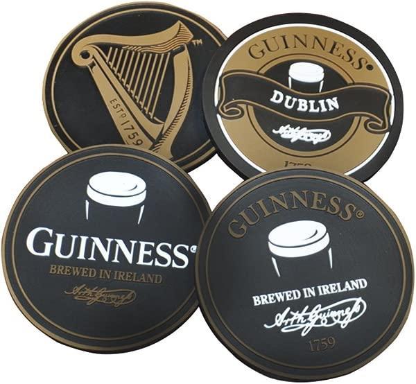 Guinness Engraved PVC Coaster Set Variety 4 Pack