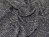 Minerva Crafts Tweed Anzugstoff, Meterware, Schwarz