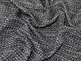 Minerva Crafts Tweed-Stoff, Schwarz, Meterware