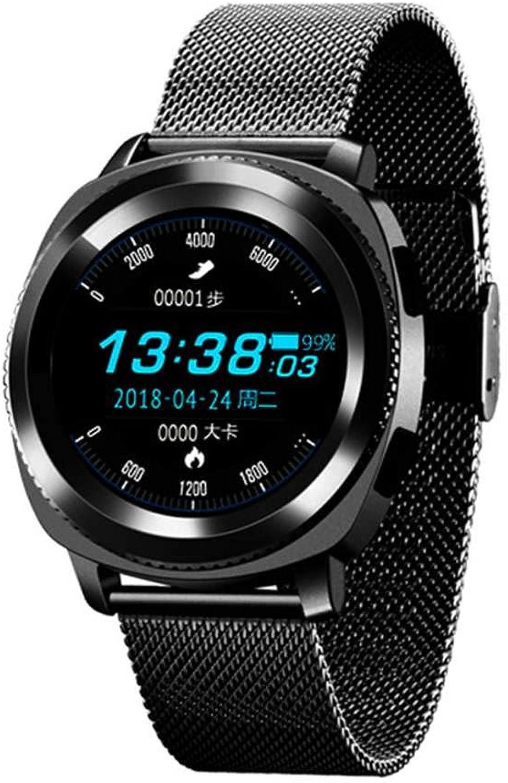 Floridivy Microwear L2 Smart Watch Blautooth Anruf Wasserdichte Sport-Uhr-Schlaf-Herzfrequenz Sedentary Tracker Schwarz