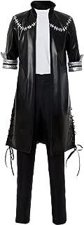 BNHA Boku No Hero My Hero Academia Dabi Cosplay Costume Leather Outfit Uniform Wig