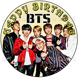 7.5 Inch Edible Cake Toppers – BTS Themed Birthday Party Collection of Edible Cake Decorations