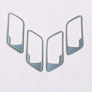 لسيارات لاند روفر رينج روفر الرياضية L320 2005-2008، ABS كروم/أسود مقبض داخلي داخل الباب ملصقات إطارات السيارة