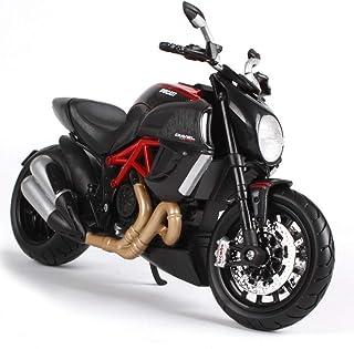 Le Guidon Peut Pivoter GRX-PRETTY 1: 12 // Ducati 1199 Panigale Mod/èLe De Moto en Alliage De Simulation Mod/èLe Statique Le Support De Pied Peut Supporter La Carrosserie