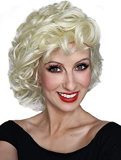 Sandy Grease Wig Blonde Curly Wig Bad Girl 50s Costume Wigs. Fits Women & Kids