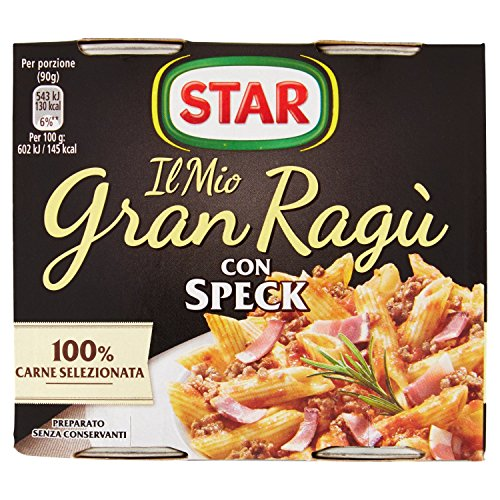 Star - Granragù con Spek - 6 confezioni da 2 vasetti da 180 g [12 vasetti, 24 porzioni]