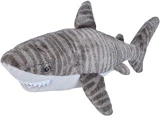 "Wild Republic Tiger Shark, Stuffed Animal, Plush Toy, Gifts for Kids, Cuddlekins, 20"", Multi (22487)"