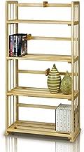 Furinno Pine Solid Wood 4-Tier Bookshelf
