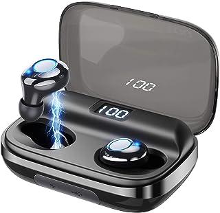 WirelessEarbudsGUSGU Bluetooth5.0 Earbuds Noise Cancelling Waterproof Wireless Headphones 145H Cycle Playtime(Easy Pairing,Deep Bass,Binaural Calls,4000mAh LED Power Display Charging Case)