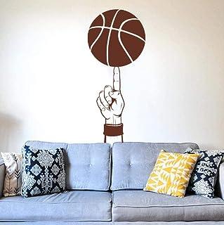 Salon chambre décoration murale stickers muraux basket-ball porte de sport enfants 42X89cm