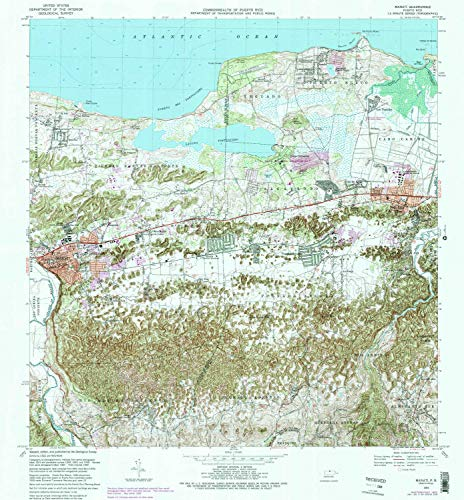YellowMaps Manati PR topo map, 1:20000 Scale, 7.5 X 7.5 Minute, Historical, 1969, Updated 1988, 31.9 x 29.6 in - Paper