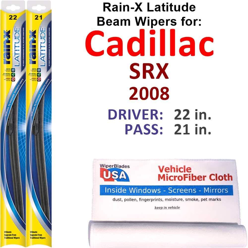 Rain-X Max Max 65% OFF 56% OFF Latitude Beam Wiper Blades for 2008 Set SRX Rain Cadillac