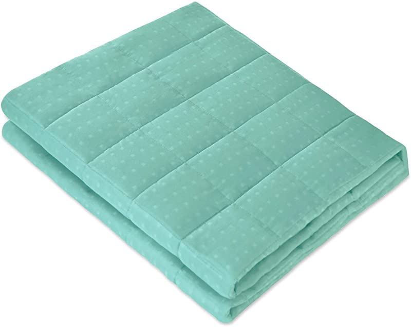 Amy Garden Bamboo Microfiber Cooling Weighted Blanket More Smaller Pockets Heavy Blankets For Adult Summer Thin Quilt For Hot Sleeper 60x80 Inch 20 Lbs For 160 250 Lbs Pastel Turquoise