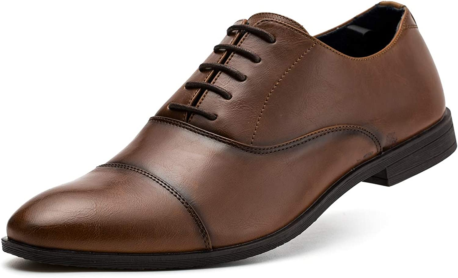 Jivana Mens Oxford Busniess Dress shoes Classic Lace-up