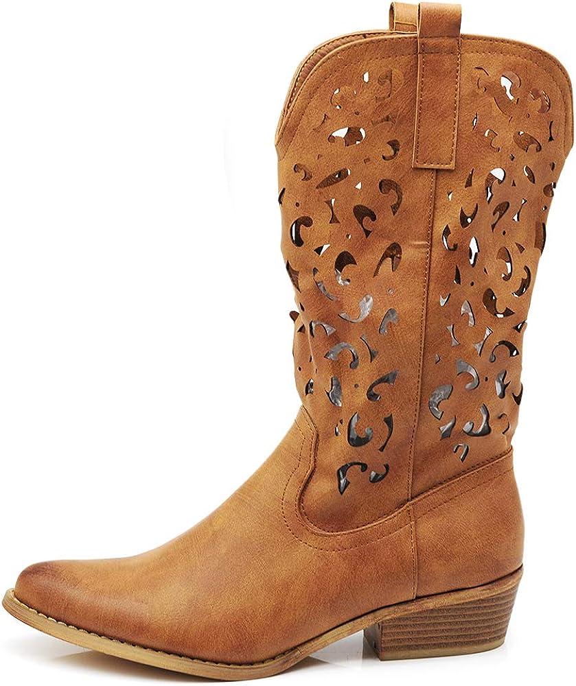 Scarpe Texani Scarpe da Donna Cowboy Western Stivali Stivaletti ...