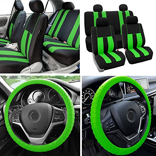 neon green seat covers - 9