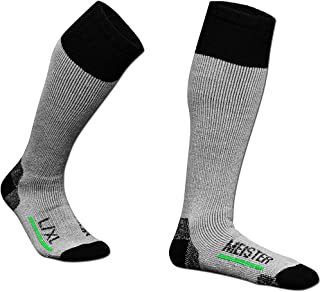 Meister Performance Wool Blend Over-The-Calf Socks - Warm, Dry & Comfortable - Heather Gray