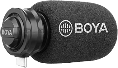 Boya BY-DM100 Plug & Play Digital Stereo Cardioid Condenser Microphone with Plug-in USB Type-C Connector for Android Devic...