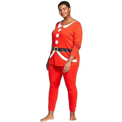 8957bee90d Wondershop Women s Plus Size 2 Piece Holiday Pajama Set at Amazon ...